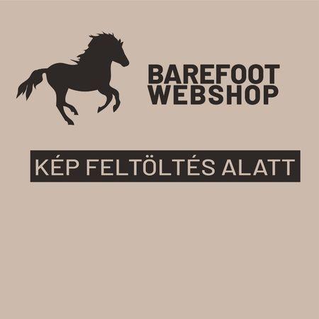 Silvermoon félhold alakú bőrheveder dongás lovakra