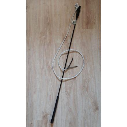 Fekete RÖVID répabot csapóval (avagy Parelli pálca, Carrot stick)